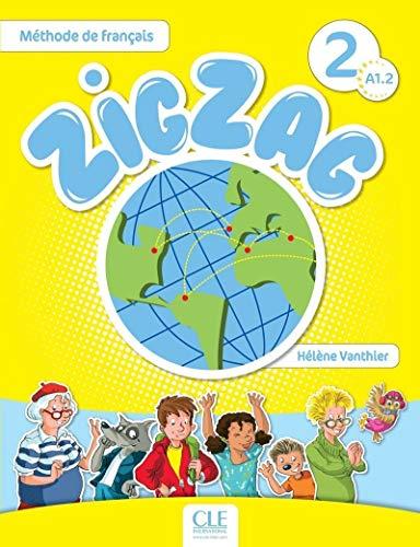 """ZigZag: pour enfants débutants, une méthode ludique, claire et rassurante. ZigZag : une approche méthodologique actionnelle et interculturelle. ZigZag : un voyage à travers le monde francophone avec ses héros - Félix, le blogueur reporter, Lila sa petite copine, Madame Bouba, la gourmande et aussi Tilou le loup, Pic Pic le hérisson et Pirouette, la chouette. ZigZag, c'est : Un livre de l'élève avec CD audio inclus (chansons et comptines). Un cahier d'activités en couleurs. Un guide pédagogique détaillé (+ des fiches pour la classe téléchargeables). Un triple CD audio collectif pour la classe (livre de l'élève + cahier d'activités). Les """"plus"""" de ZigZag : Des cartes images ludiques pour dynamiser l'apprentissage du lexique (flashcards téléchargeables). Un portfolio téléchargeable. Des enregistrements audio riches et variés. Une version numérique complète pour TBI ou vidéoprojecteur. Un site internet compagnon."""