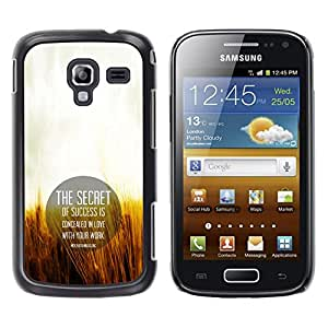 CASEMAX Slim Hard Case Cover Armor Shell FOR Samsung Galaxy Ace 2- THE SECRET OF SUCCESS