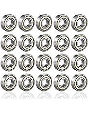 PUPOUSE 20 st 608 ZZ kullager, dubbel metall skateboard scooter rullskridskor kullager kullager, 8 mm x 22 mm x 7 mm