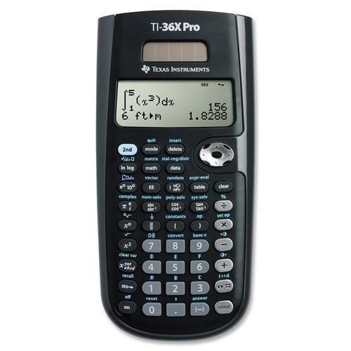 Texas Instruments Scientific Calculator, w/Multi View, 3-1/3''x7-1/4''x3/4'', BK (TI-36X Pro)
