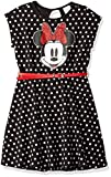 Disney Big Girls' Minnie Mouse Dress with Belt, Black, L-12/14