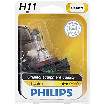 Philips H11 Standard Halogen Replacement Headlight Bulb, 1 Pack