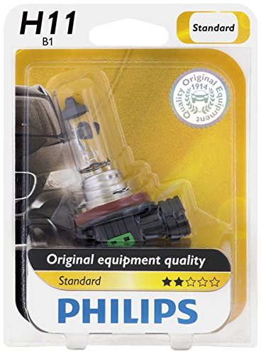 Philips 12362B1 H11 Standard Halogen Replacement Headlight Bulb, 1 Pack (Lexus Rx330 Headlight Replacement)