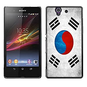 LJF phone case Shell-Star ( National Flag Series-South Korea ) Snap On Hard Protective Case For SONY Xperia Z / L36H / C6602 / C6603 / C6606