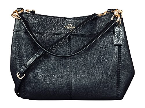 Coach Pebbled Leather Small Lexy Shoulder Bag Handbag, Black