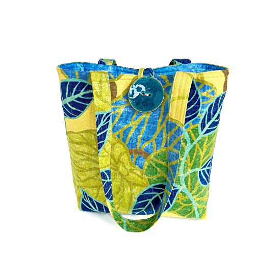 Womens Handbag, Quilted tote bag, Tropical Shoulder Bag, Vegan Purse ()