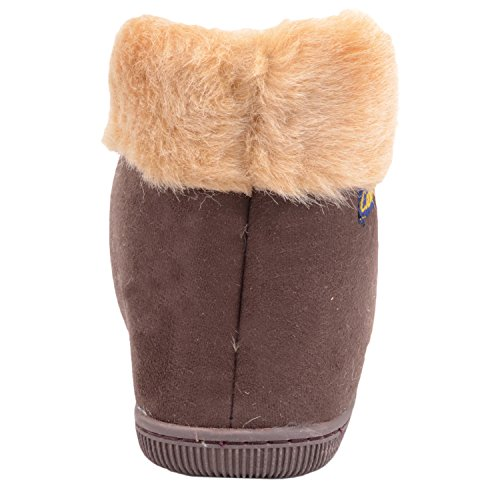 Faux Mens Brown Shoes Fur On Inners Slippers Warm with Boots Slip Indoor qrO4q8F