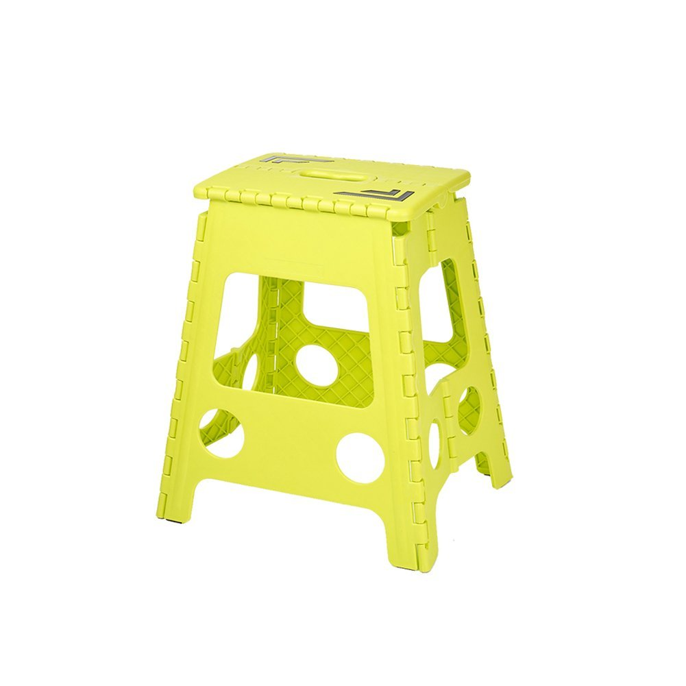 caliente YKQ Taburete Plegable Plegable Plegable plástico Amarillo Claro Que acampa Que Pesca 1.65KG 3.6LBS  ¡no ser extrañado!