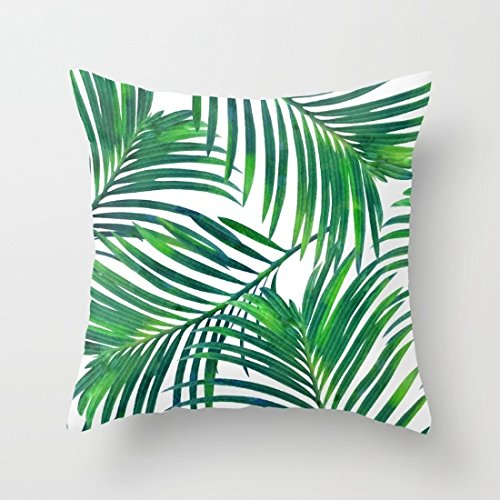 Palm Leave Throw Pillow Covers Decorative Home Decor Pillow Case Cushion Covers 18 x 18 for Sofa