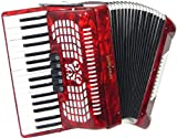 Scarlatti 72 Bass Accordion - Red