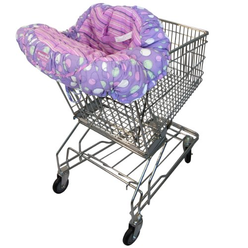 Floppy Seat Shopping Cart and High Chair Cover, EZ Carry Bag Style -Grape Sorbet