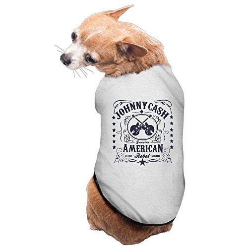 Dog Costume Johnny Cash (Johnny Cash American Rebel Cozy Lovely Design Dog Costume Pet)