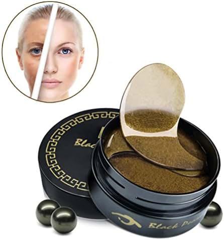 60Pcs Black Pearl Essence Gold Collagen Crystal Eye Mask Remove Dark Circle Anti wrinkle Eye Zone Skin Moisturing Care Pad Patches
