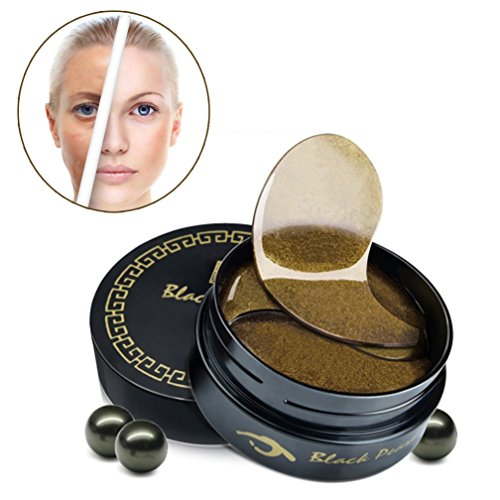 60Pcs Black Pearl Essence Gold Collagen Crystal Eye Mask Remove Dark Circle Anti wrinkle Eye Zone Skin Moisturing Care Pad Patches