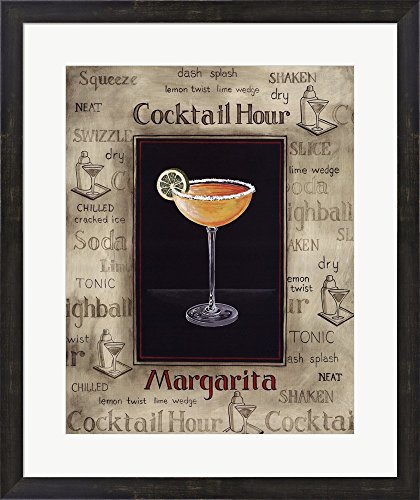 Margarita by Gregory Gorham Framed Art Print Wall Picture, Espresso Brown Frame