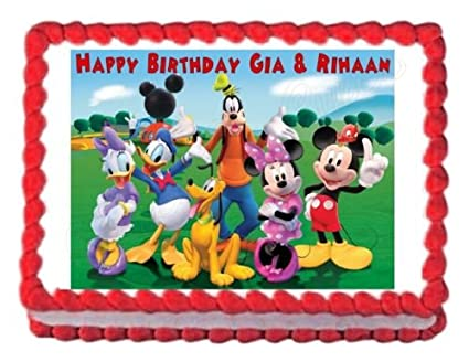 Amazoncom MICKEY MOUSE CLUBHOUSE party edible image cake topper