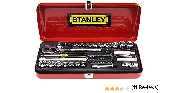 Stanley 89516 - Juego de puntas de destornillador (46 piezas, 1/4 y 3/8