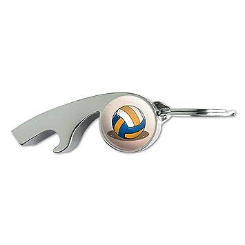 Voleibol de Playa carcasa cromado Metal silbato botella ...