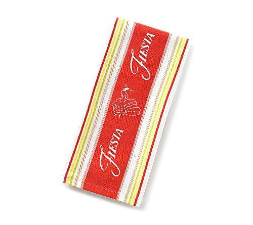 Fiesta Logo Stripe Kitchen Towel Scarlet