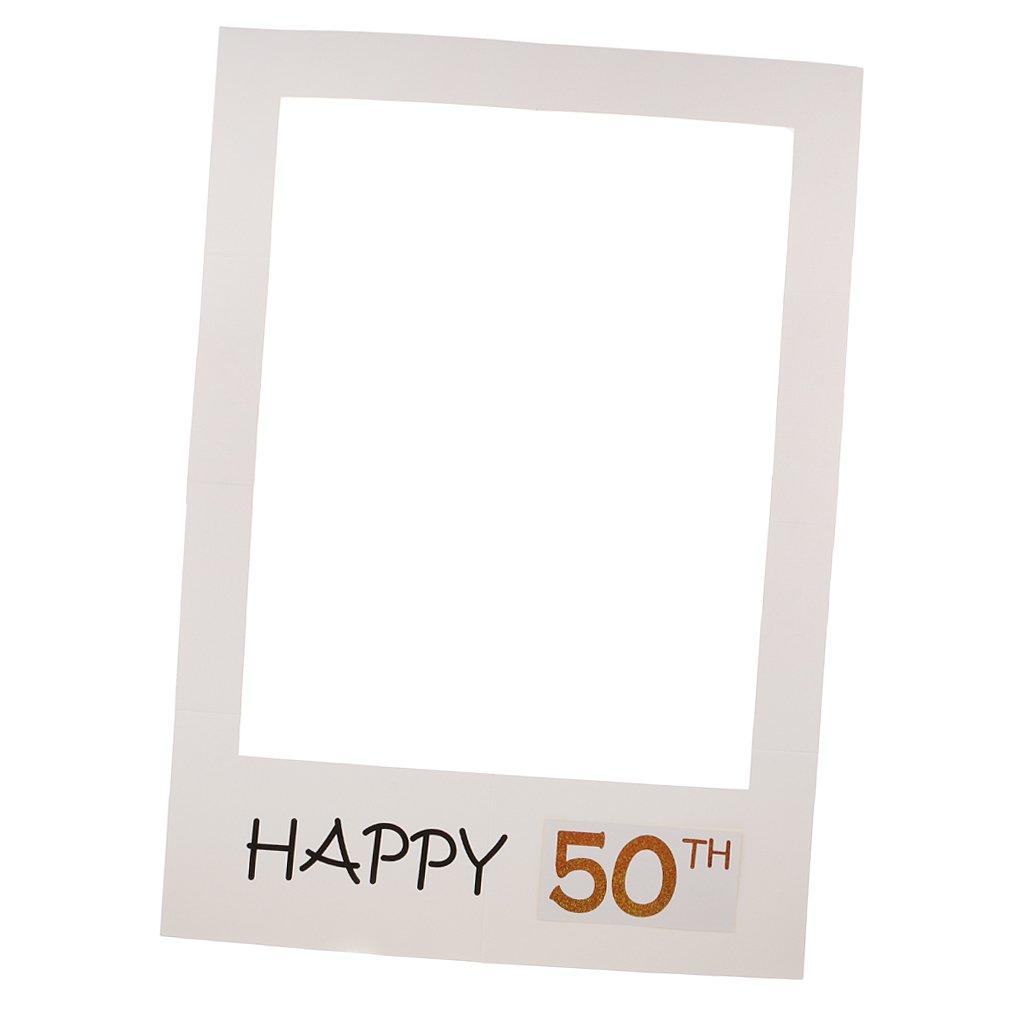 Magideal f/ête danniversaire Happy Birthday 40//50/ans sur les r/éseaux sociaux daccessoires photo Poster 68/x 48/cm