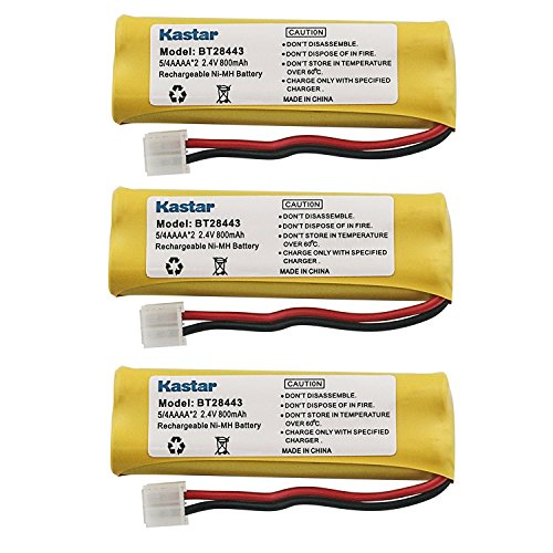 - Kastar Cordless Battery (3 Pack), Ni-MH 2.4V 800mAh, Replacement for BT-18443 BT-28443 89-1337-00-00 VTech LS-6115 LS-6117 LS-6125 LS6126 LS6225 Wireless Home Handset Telephone