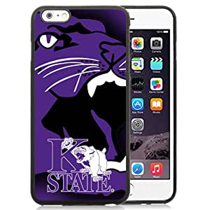 Fashionable And Unique Custom Designed With NCAA Big 12 Conference Big12 Football Kansas State Wildcats 2 Protective Cell Phone Hardshell Cover Case For iPhone 6 Plus 5.5 Inch Black