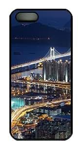 iPhone 5S Case and Cover -Gwangan Bridge busan south korea PC case Cover for iPhone 5 and iPhone 5s ¨CBlack