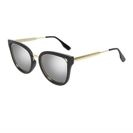Gafas de Sol Ms Gafas de Sol polarizadas Retro Glasses Elegant Personality Eye Drive (Color