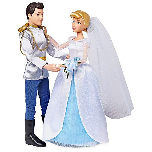 Disney Cinderella and Prince Charming Classic Wedding Doll Set ()