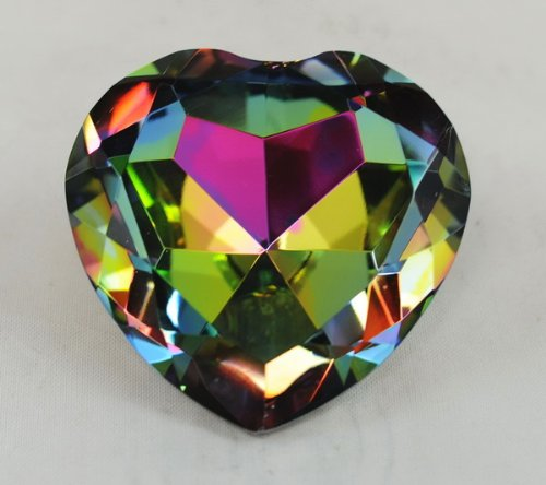 Crystal Diamond Jewel Paperweight 80 mm Heart Dark - Paperweight Cut Diamond