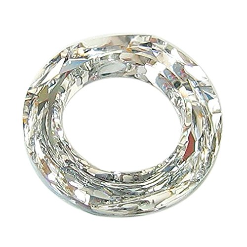 1 pc Swarovski Crystal 4139 Round Cosmic Ring Frame Charm Pendant Clear AB 14mm (cal V Si) / Findings / Crystallized Element - 4139 14mm Cosmic Ring Crystal
