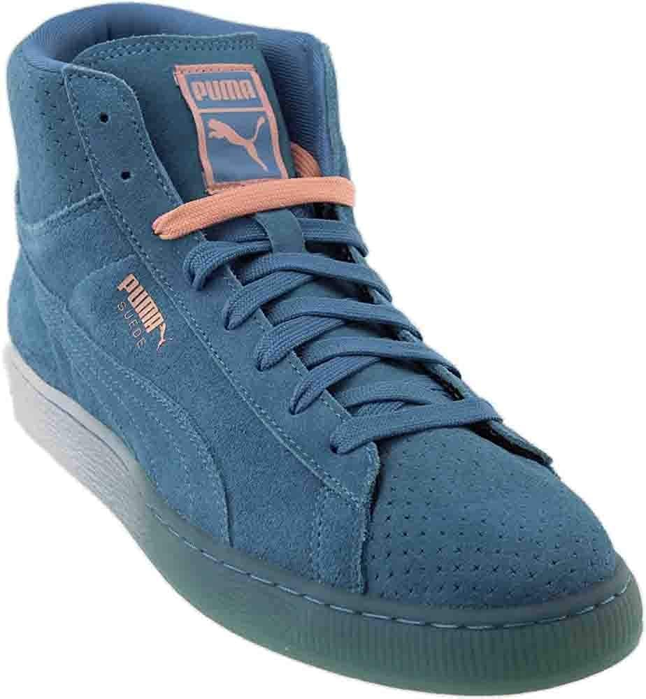 meet 17eec 9f170 PUMA Mens Suede Mid Classic + Pink Dolphin Casual Athletic & Sneakers