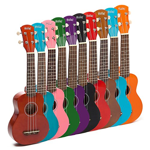 Hola! Music HM-21MG Soprano Ukulele Bundle with Canvas Tote Bag, Strap and Picks, Color Series - Mahogany by Hola! Music (Image #7)