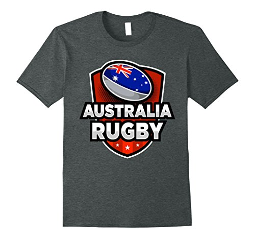 Mens Australia Rugby T-Shirt For Australians XL Dark Heather - Australian Rugby