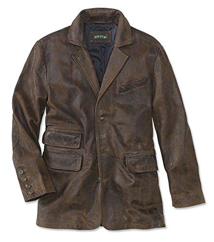 Supple Leather Blazer (Orvis Men's Bandera Leather Blazer, Brown, Large)