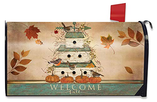 - Briarwood Lane Welcome Fall Birdhouse Primitive Magnetic Mailbox Cover Welcome Standard