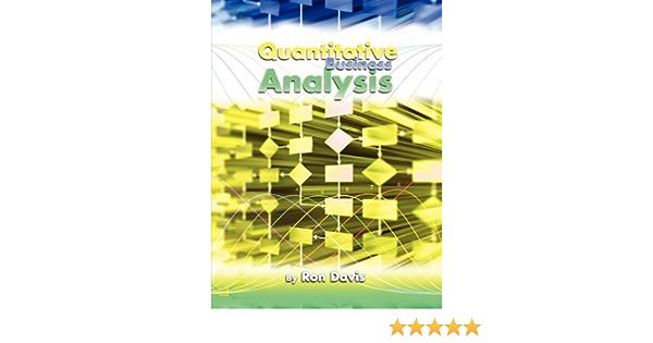 Quantitative Business Analysis: Amazon.es: Davis, Ron: Libros ...