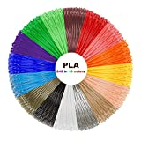 3D Pen PLA Filament Refills - 320 Linear Feet - 1.75mm PLA Pack of 16 Different Colors in 20 Feet Lengths for Tipeye, ,soyan, IDO3D, MYNT3D, RANDTK, PACKGOUT 3D Pen and etc