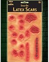 Ensemble De 16 Latex Adhésif Cicatrices Post-it And Plaies - Fête De Halloween Accessoire - Rouge