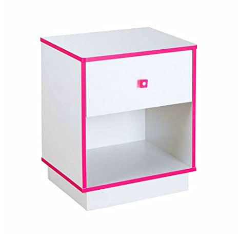 Amazon.com: Night Stand with Drawer and Shelf Bedside Table ...