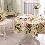 DIDIDD European Pastoral Rectangular Dining Table Table Cloth Modern Minimalist Grid Stripe Tablecloth Cover Towels,B,diameter200cm(79inch)