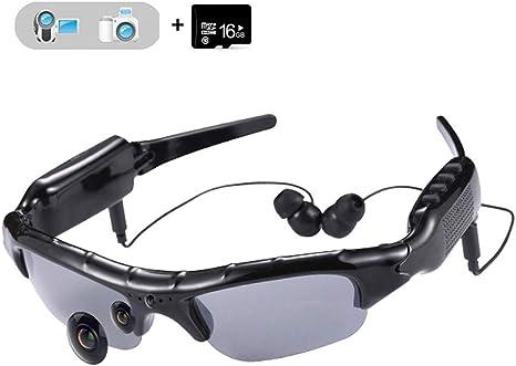 Opinión sobre WOTUMEO Multifuncionales Gafas De Sol MP3 Mini DV DVR De La Cámara De Vídeo Espía De Los Vidrios De La Cámara Espía De Los Vidrios De Conducción + 8 GB Tarjeta Memoria