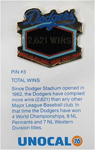 1 Pin -2621 Wins - Los Angeles Dodgers Unocal 76 Pin