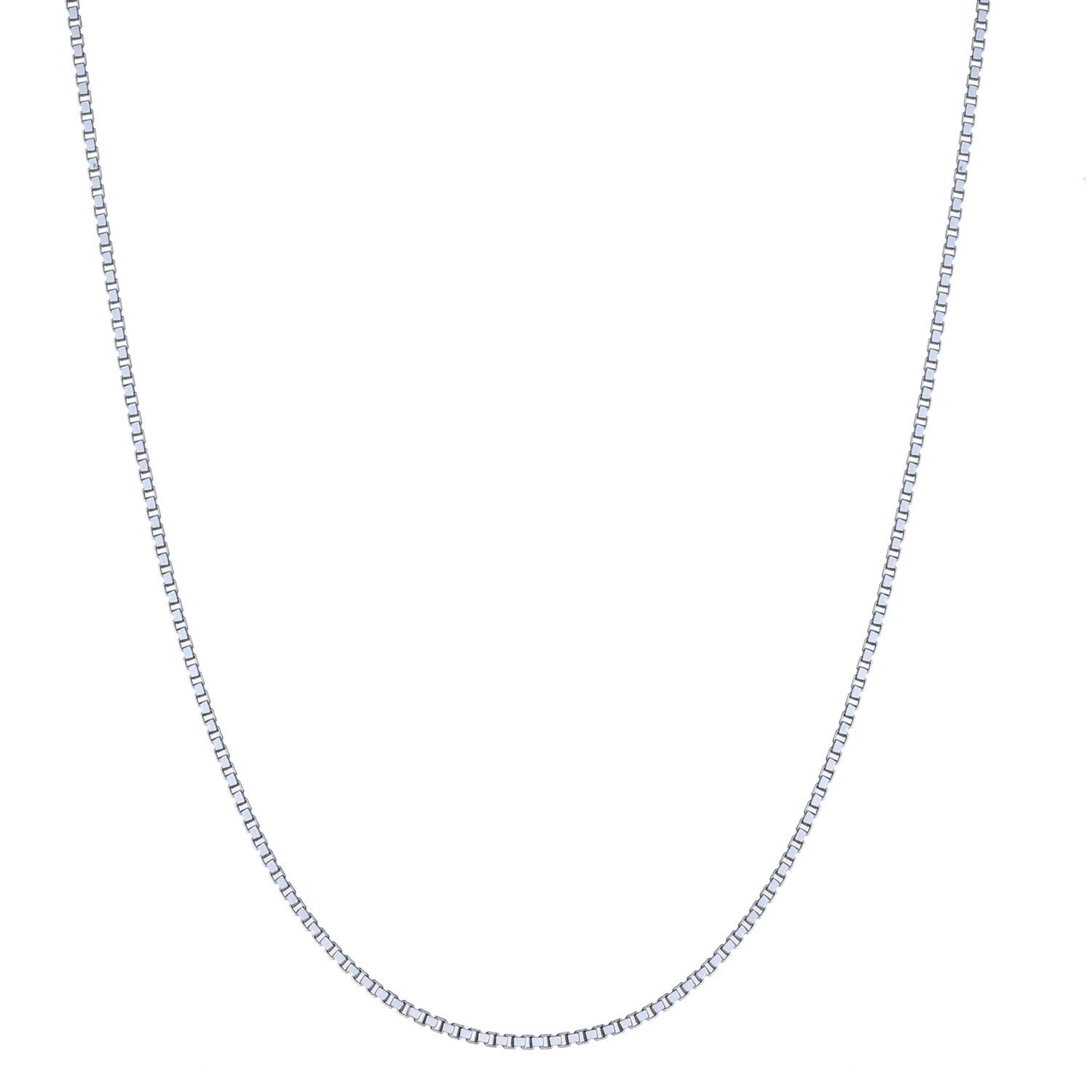 16-30 Sterling Silver 1.5mm Classic Italian Box Chain Necklace