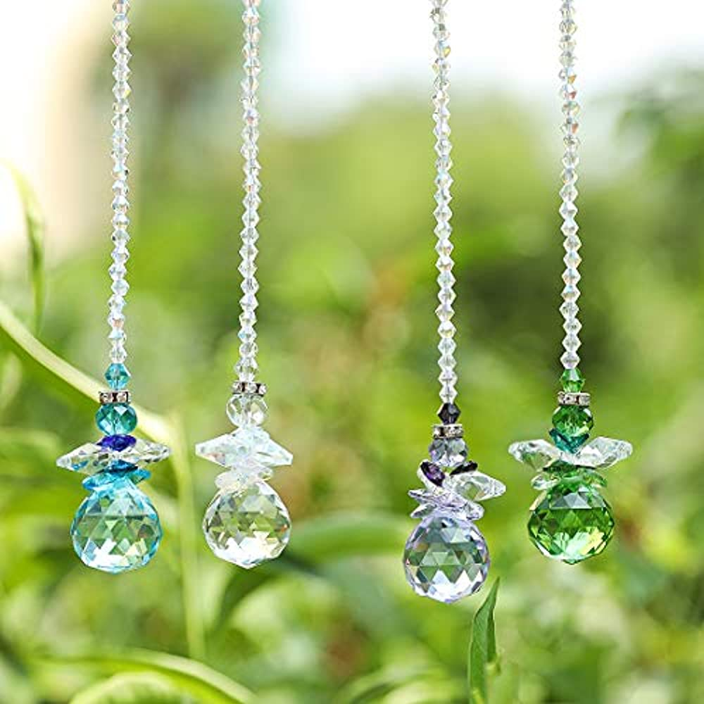 "H""D Beautiful Angel Crystal Ball Pendant Chandelier Decor ..."