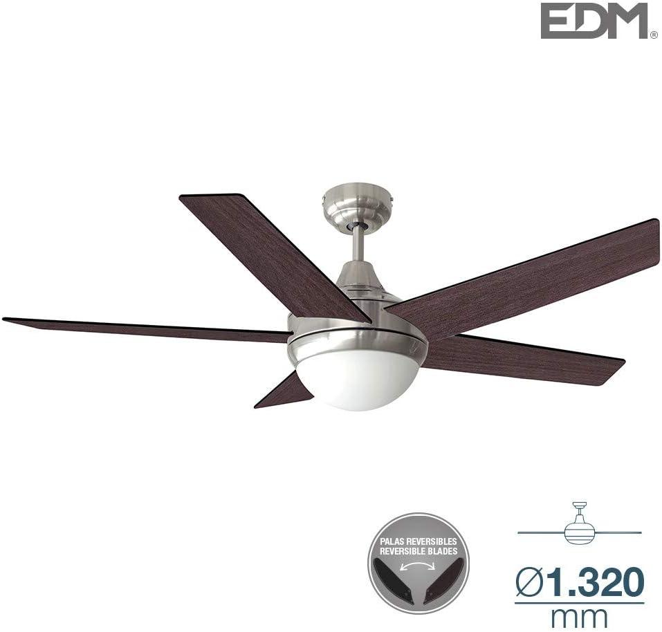 Ventilador de techo ADRIATICO 60W 130cm wengué/negro 2xE14 40W EDM ...