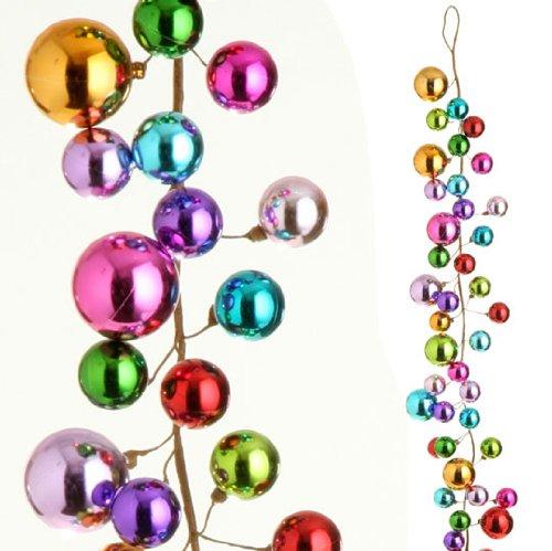 amazoncom raz imports 4 multicolored ball christmas garland home kitchen