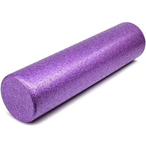 Yes4All EPP Exercise Foam Roller - Extra Firm High Density Foam Roller - Best for Flexibility and Rehab Exercises (18 inch, Purple)