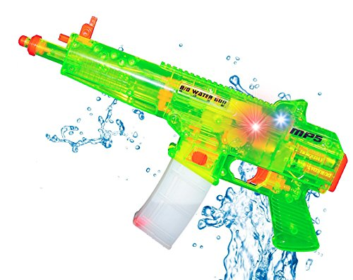 Liberty Imports Battery Operated Motorized Automatic Electric Super Water Gun Soaker Blaster (Green (MP5)) ()