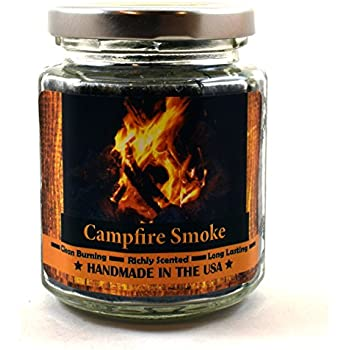 Amazon.com: Campfire Smoke Wood Wick Candle, 8 oz Super Scented ...